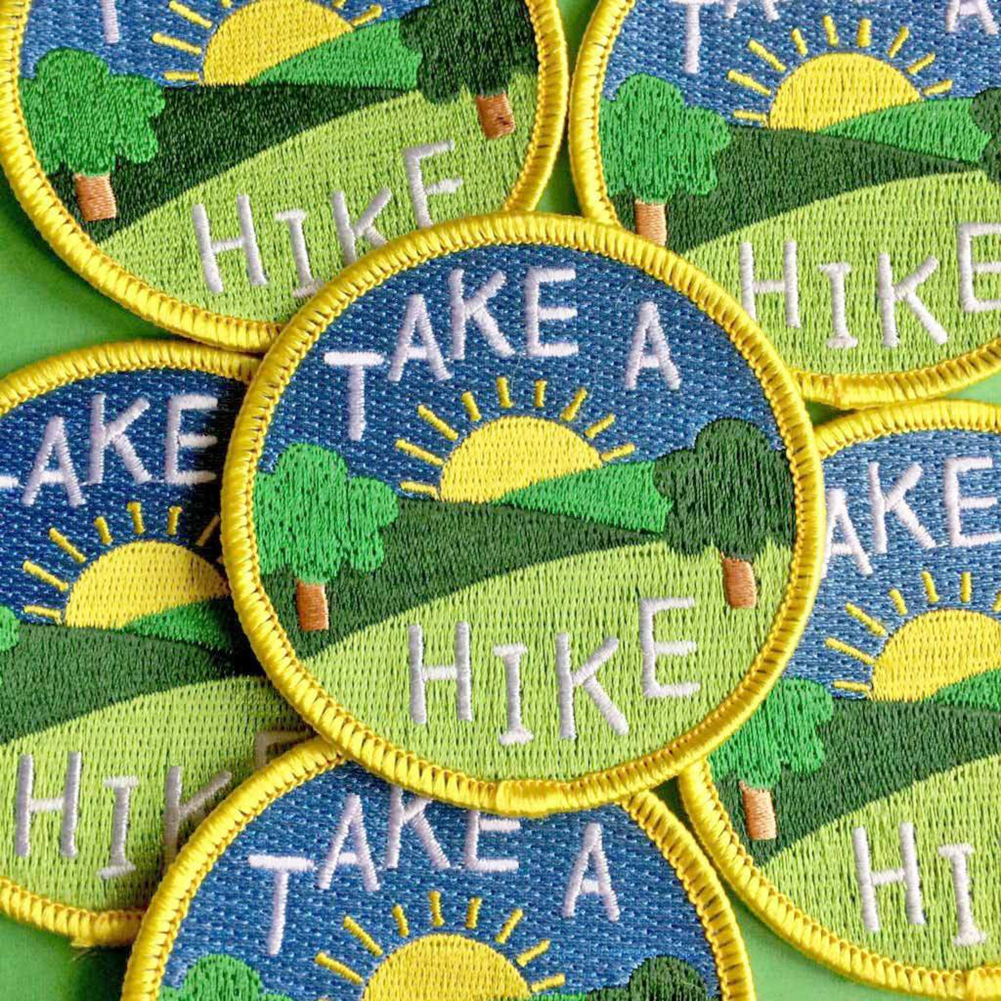 Take a Hike patch - Inspired