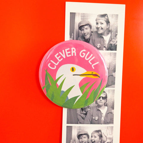Clever Gull fridge magnet - Inspired