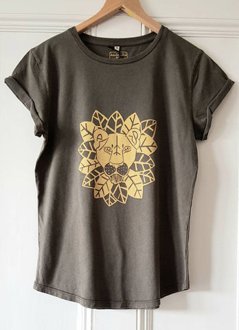 Lioness screen printed womens t-shirt