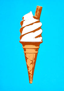 Ice Cream Greetings Card - Inspired