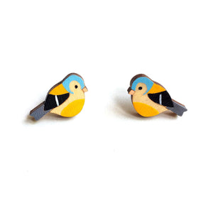 Chaffinch stud earrings