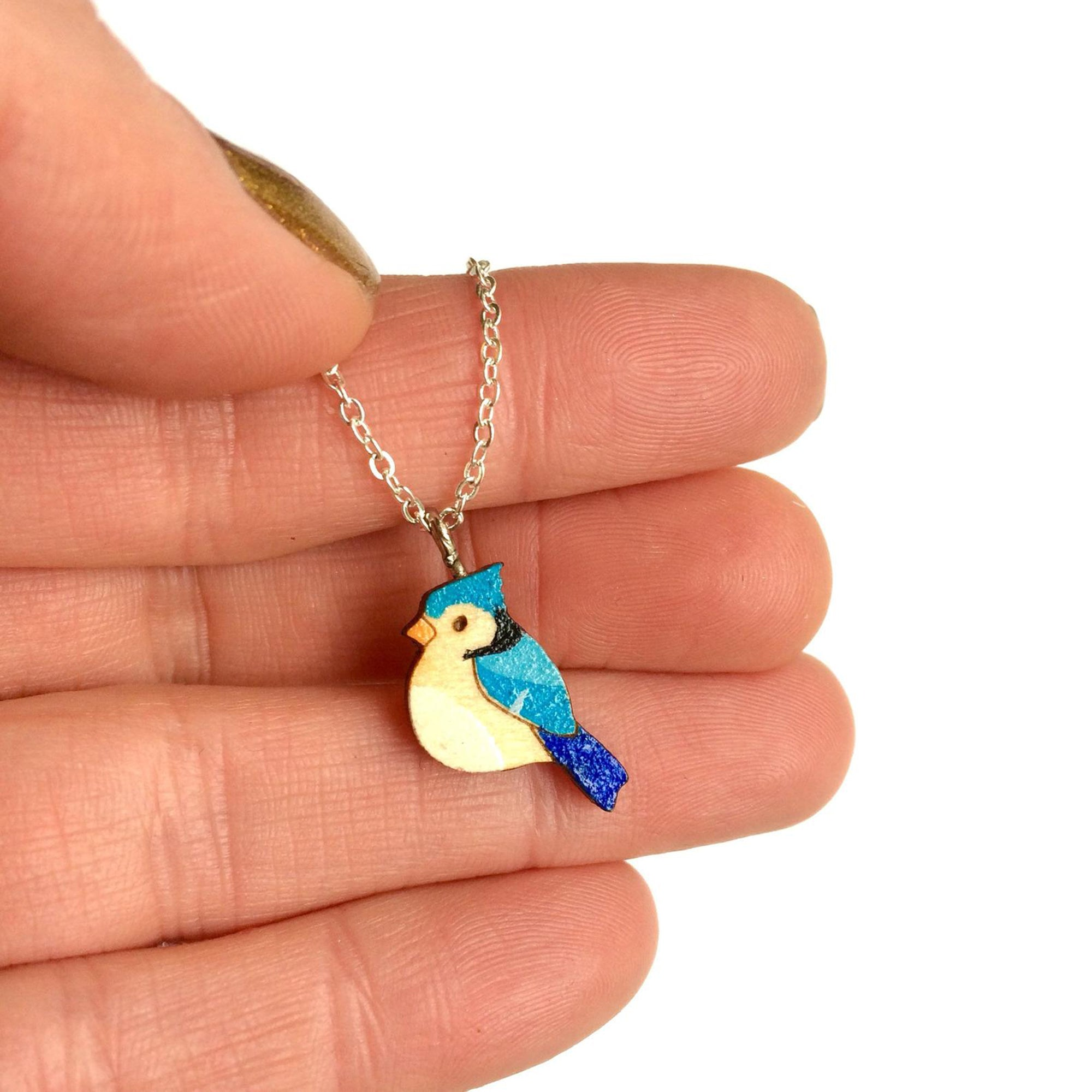 Bluejay necklace