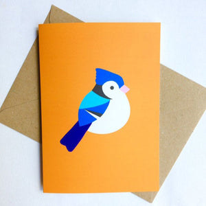 Bluejay greetings card - Inspired