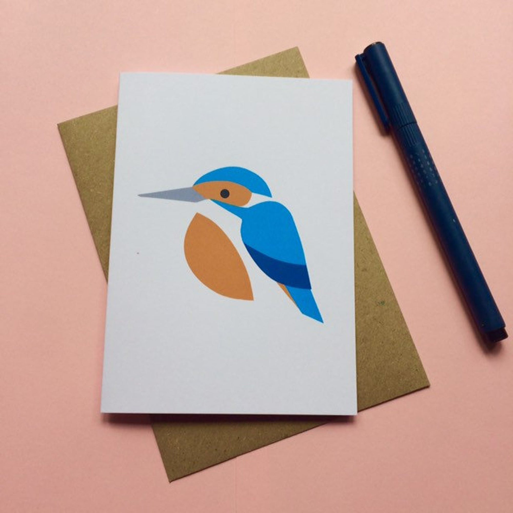 Kingfisher greetings card - Inspired
