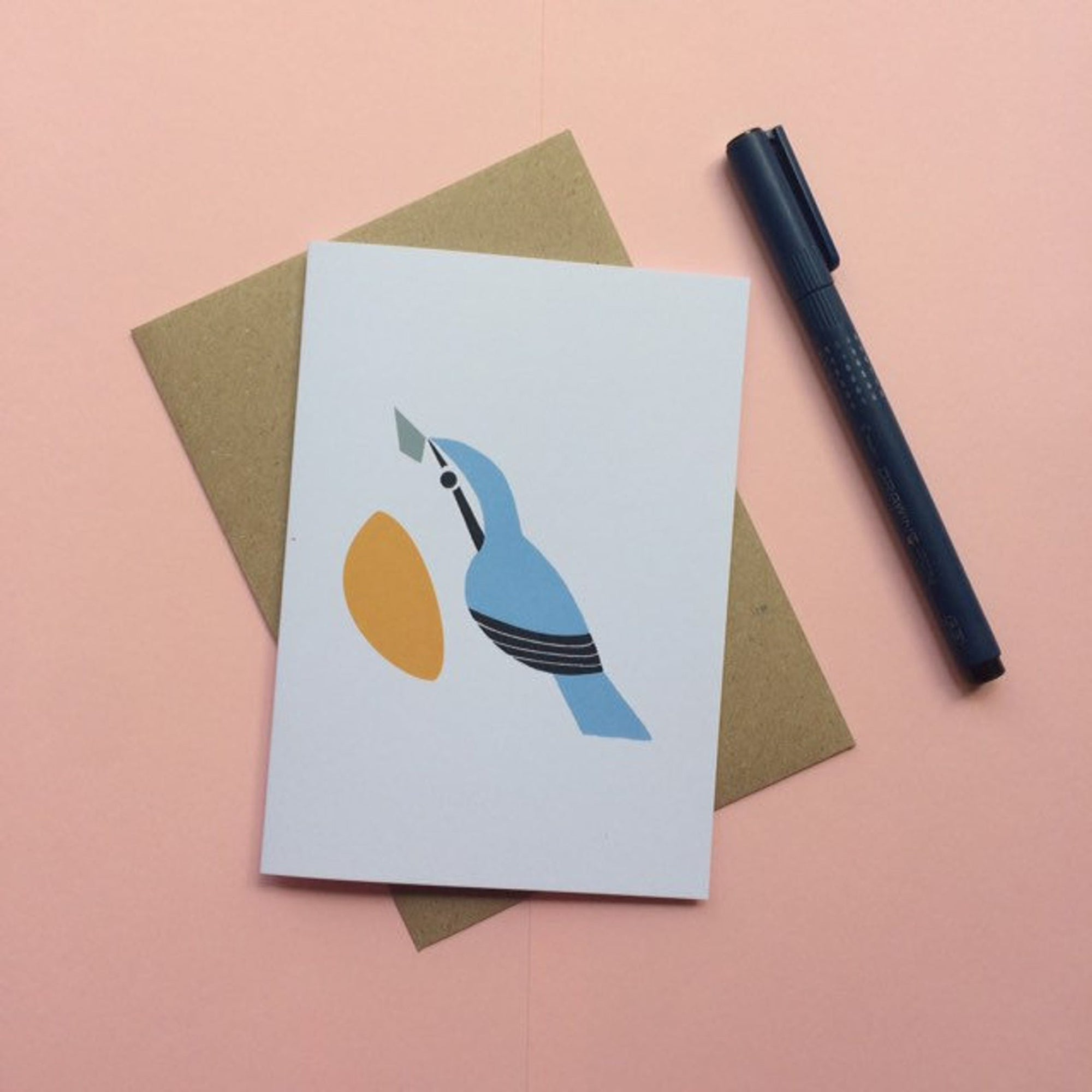 Nuthatch greetings card - Inspired