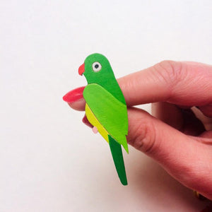 Parakeet pin brooch - Inspired