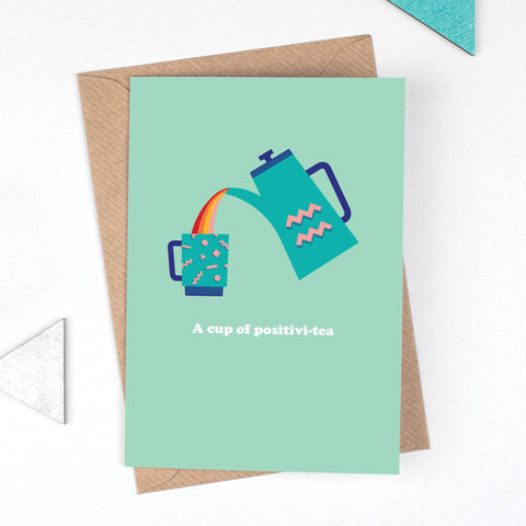 A Cup of Positivi-tea card