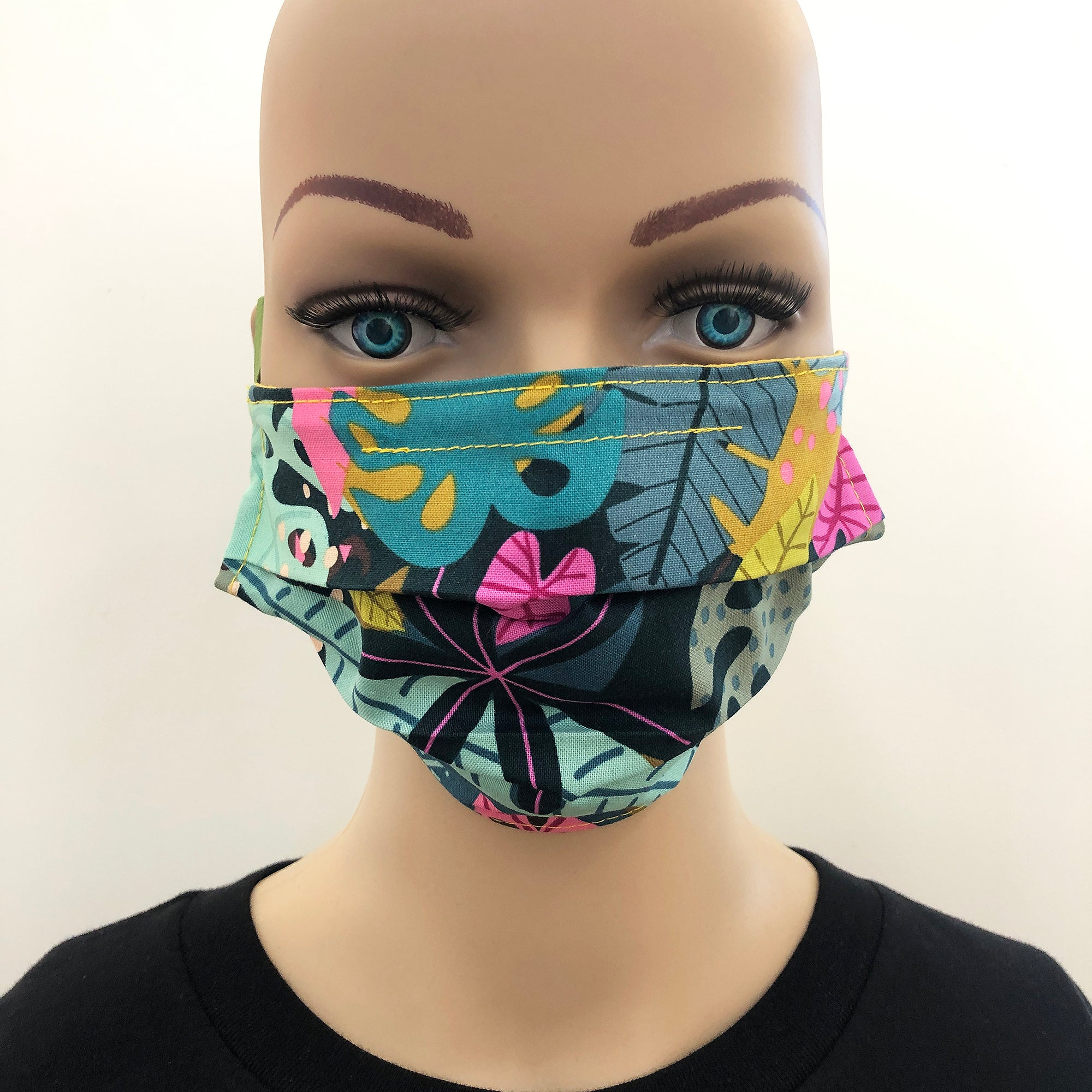 Face mask in night jungle design cotton fabric - Inspired