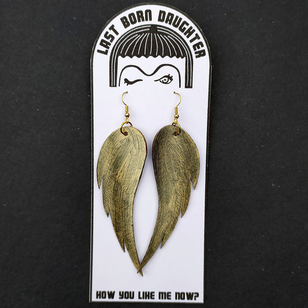 Metallic Wing earrings