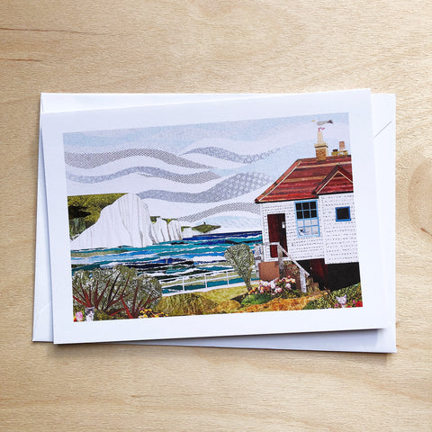 Coastguard Cottage greetings card