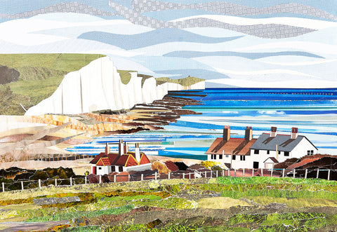 Cuckmere View greetings card