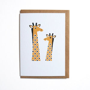 Giraffe greetings card - Inspired