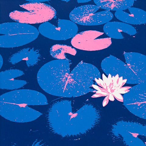 Lily Pond Greetings Card - Inspired