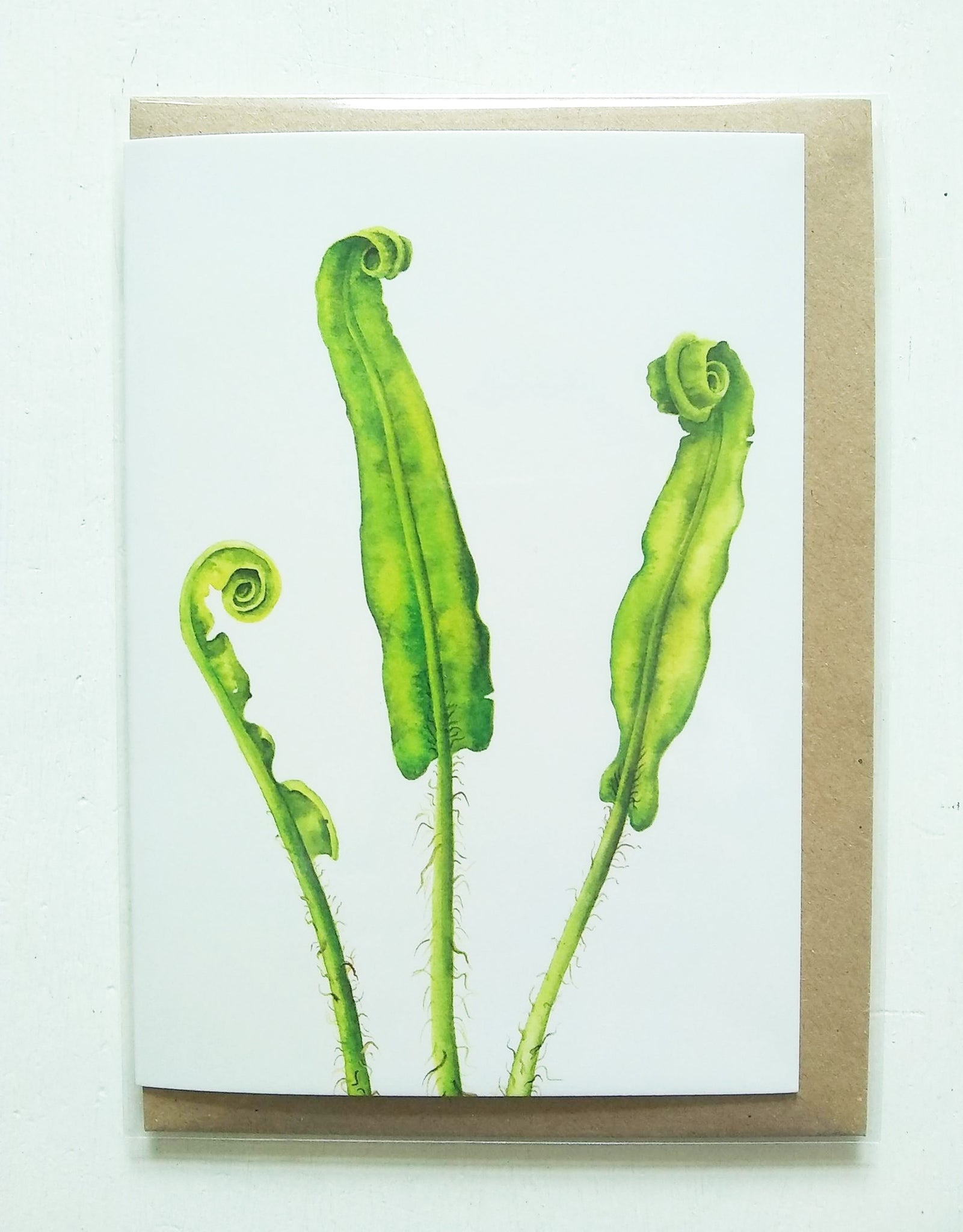 Unfurling card