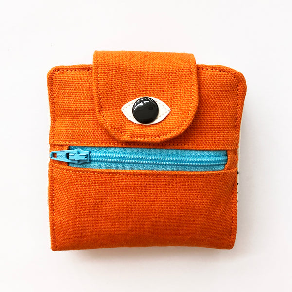 Orange Cyclops wallet