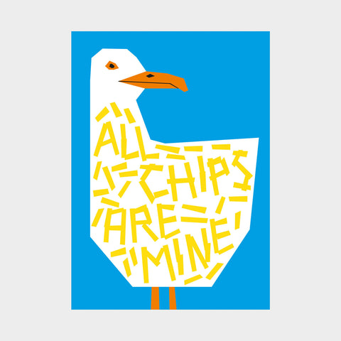 All the chips are mine greetings card - Inspired