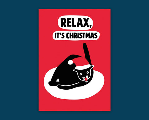 Relax It's Christmas card