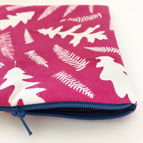 Large screen printed pouch