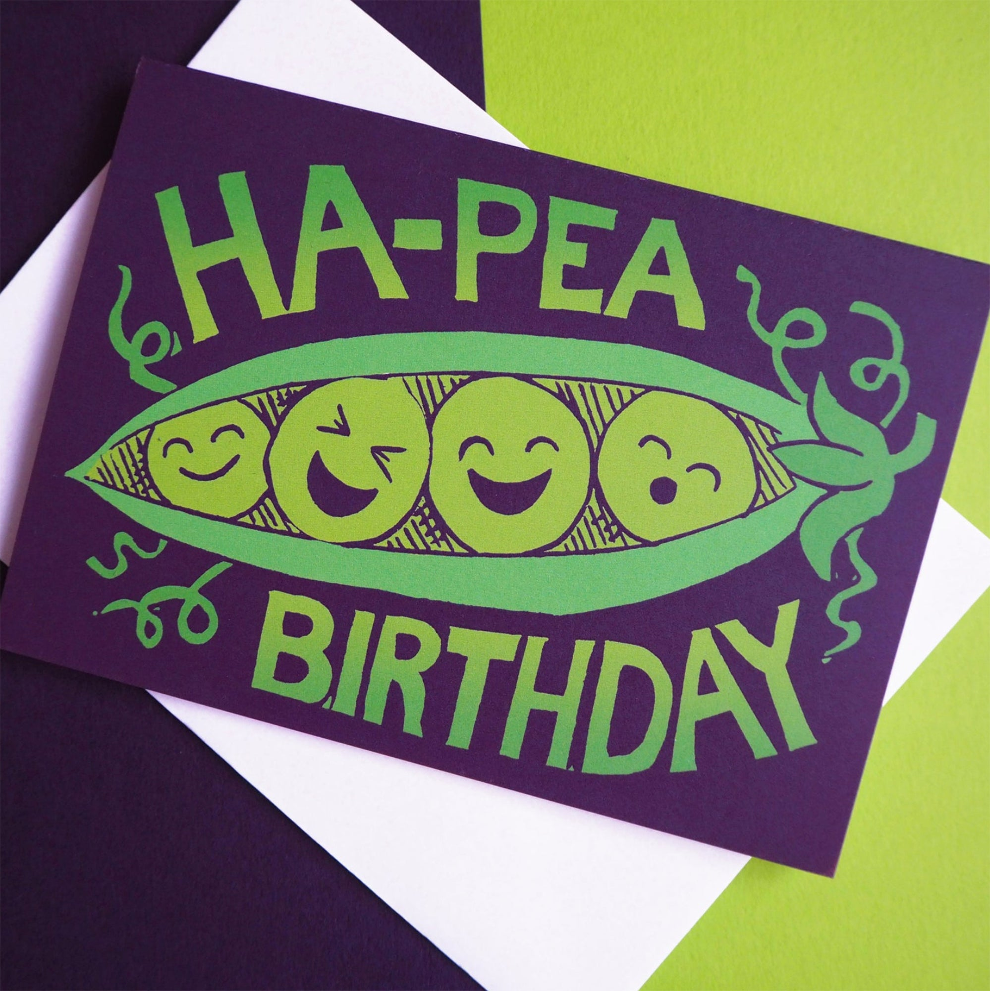 Ha-Pea Happy Birthday greetings card - Inspired