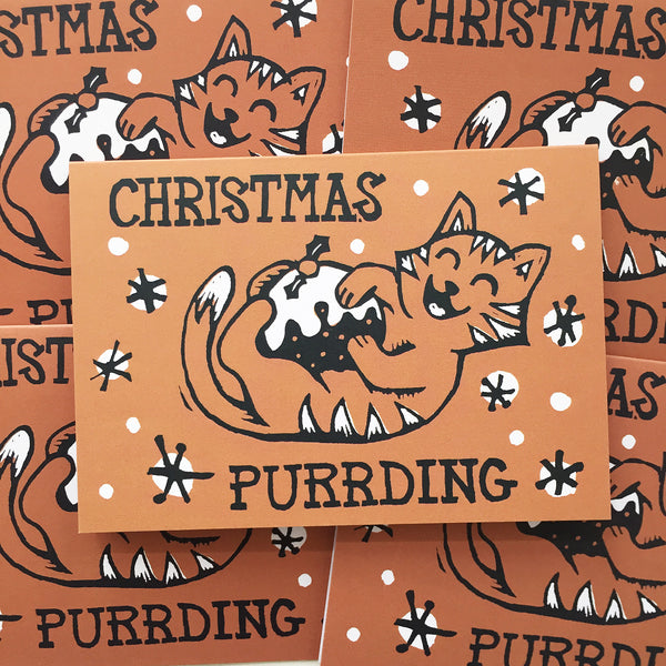 Christmas Purding card