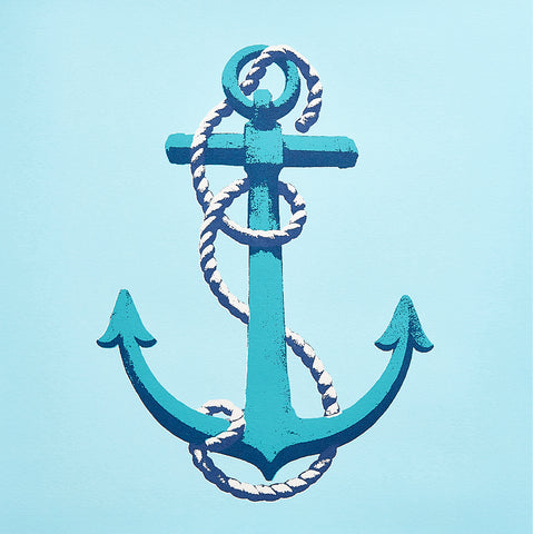 Anchor greetings card - Inspired