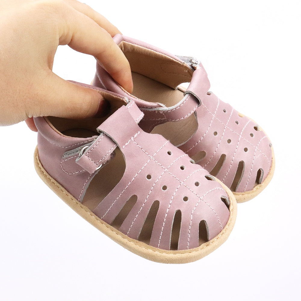 sandals-Pink leather