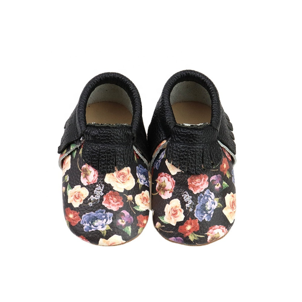 Printed shoes-Flower clusters