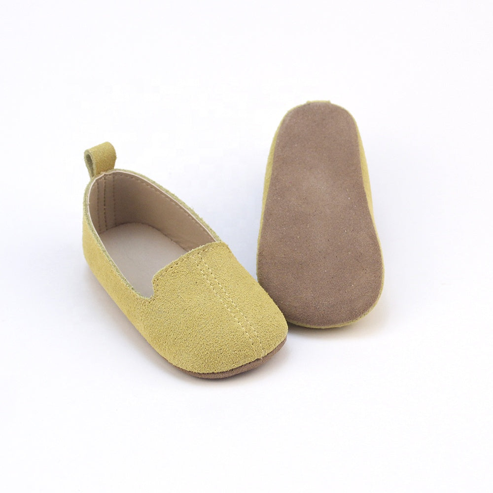 Yellow suede casual shoes
