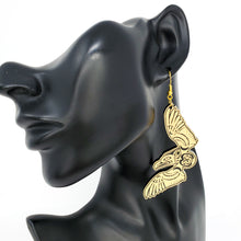 Load image into Gallery viewer, Golden Thunderbird Earrings