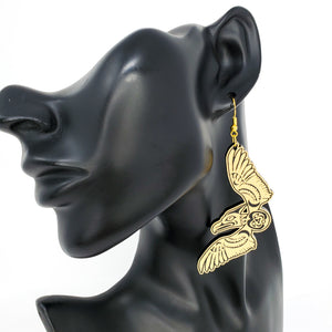 Golden Thunderbird Earrings
