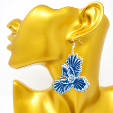 Load image into Gallery viewer, Steller's Jay Earrings
