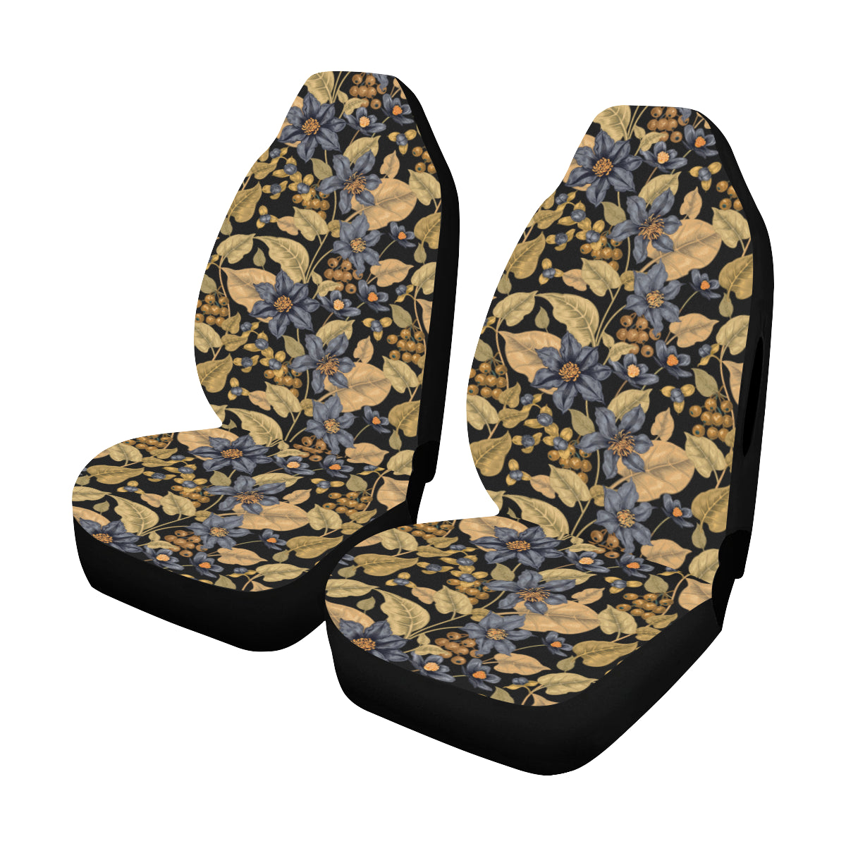 Dark Flower - Car Seat Cover (Set of 2)