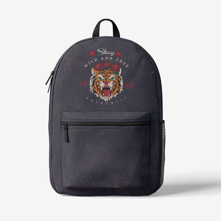 Stay Wild and Free - Trendy Backpack