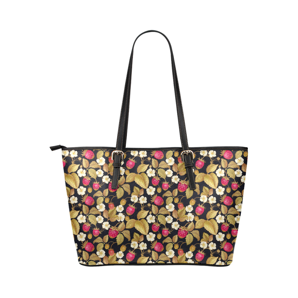 Strawberry - Leather Tote Bag