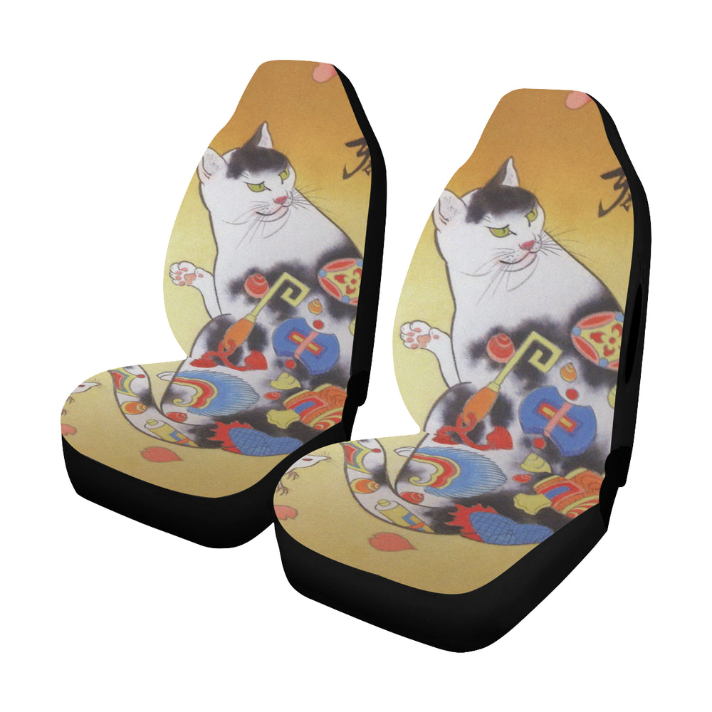 Cat (3) - Car Seat Cover (Set of 2)