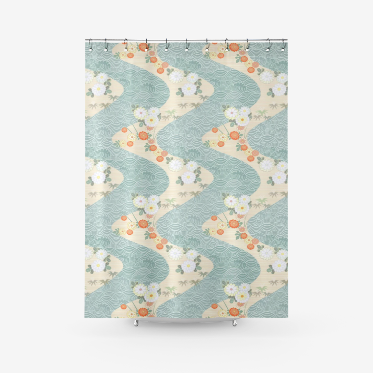 Flowing River - Shower Curtain