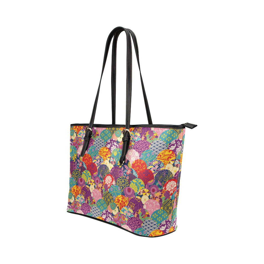 Japaneses Balls - Leather Tote Bag