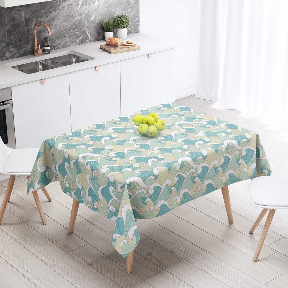 Japan (3) - Cotton Linen Tablecloth