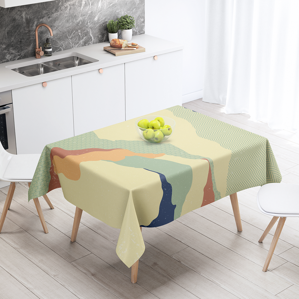 Japan (55) - Cotton Linen Tablecloth
