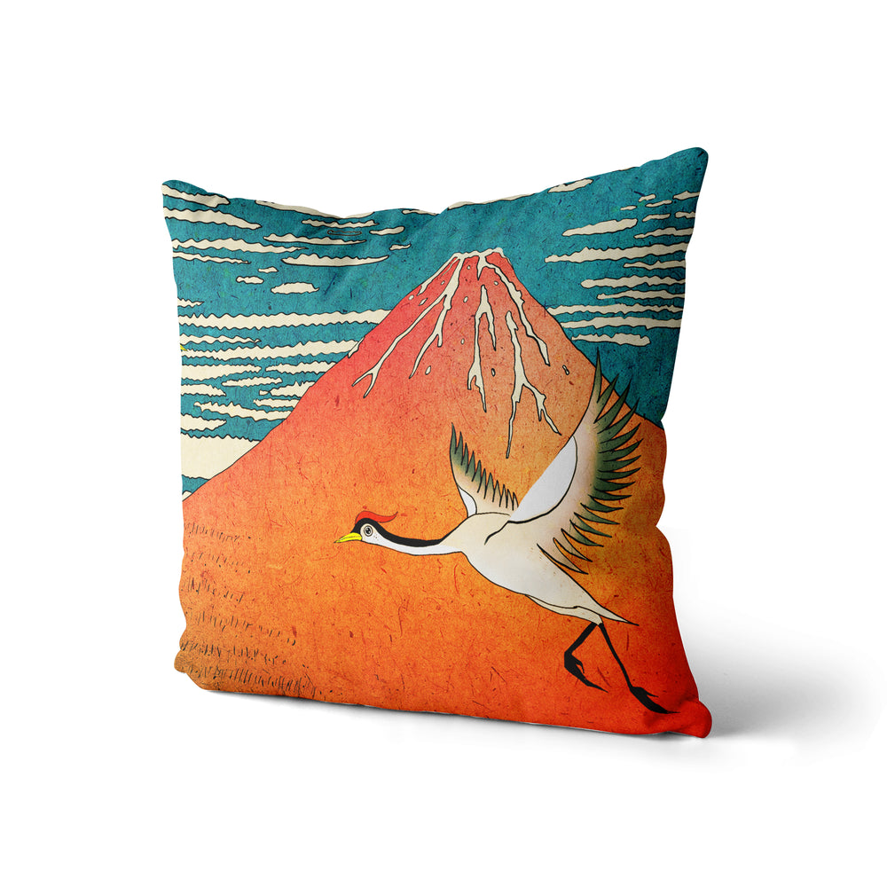 Mountain and Bird - Pillow Case