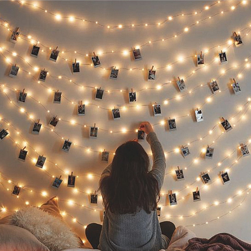 LED String Lights Photo Clip
