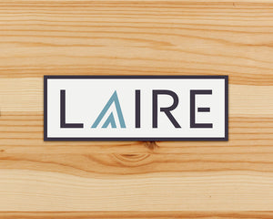 LAIRE logo with Seafoam Blue Icon - Vinyl Sticker