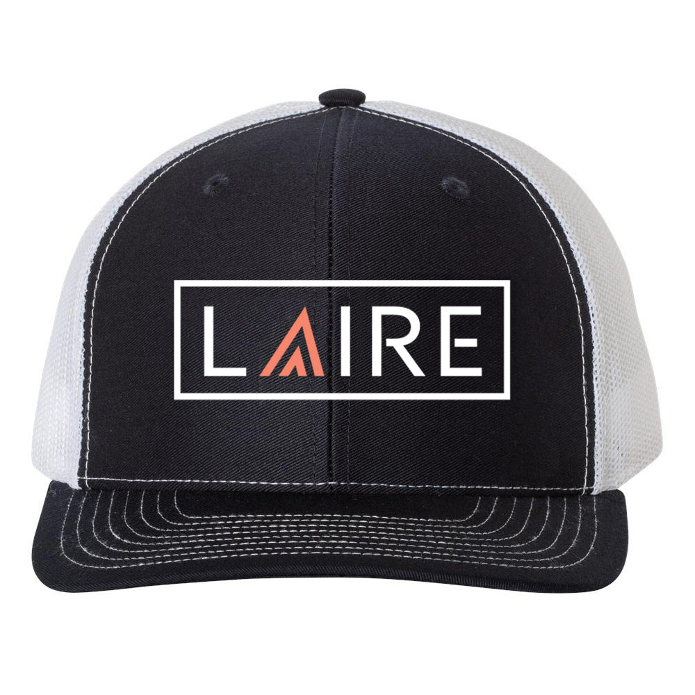 LAIRE Trucker Hat - Navy with California Coral Icon
