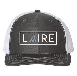 LAIRE Trucker Hat - Charcoal with Seafoam Blue Icon