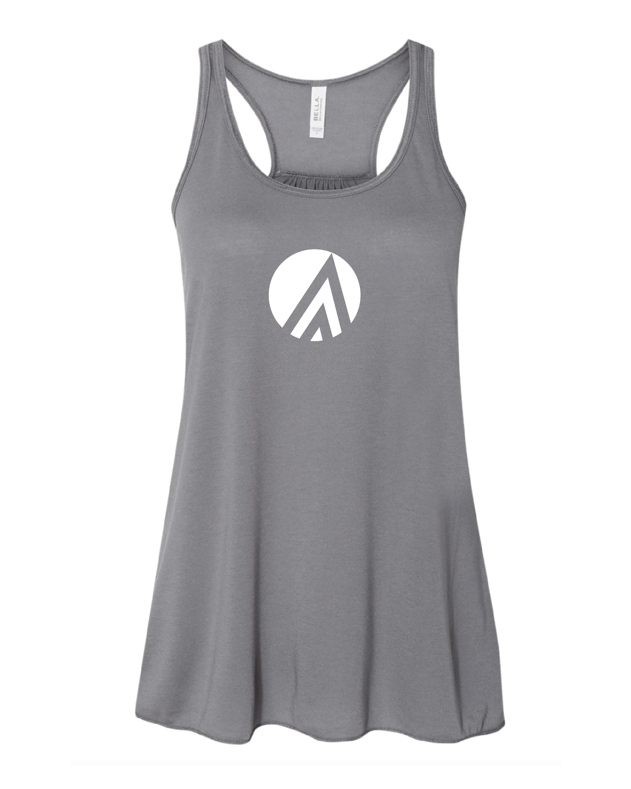 Super Soft Flowy Racerback Women's Tank - Storm Grey