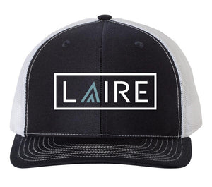 LAIRE Trucker Hat - Navy with Seafoam Blue Icon