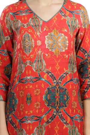 Red Printed Tunic