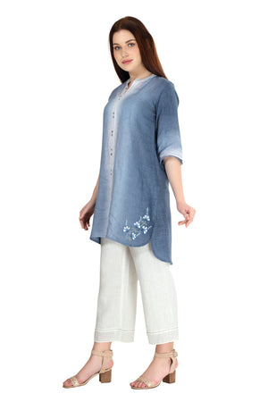 Linen and Linens - Sky Gradient Tunic - 2
