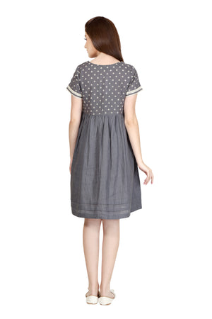 The Luxe Dotted Dress