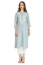 Glacier Embroidered Tunic